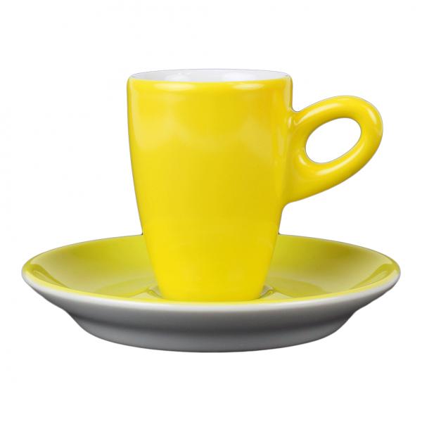 Alta espressokopje met schotel - Geel
