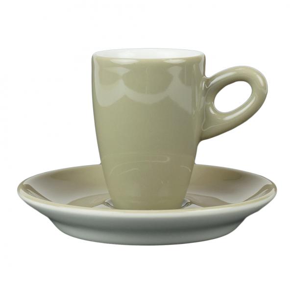 Alta espressokopje met schotel - Grijs (schlamm)