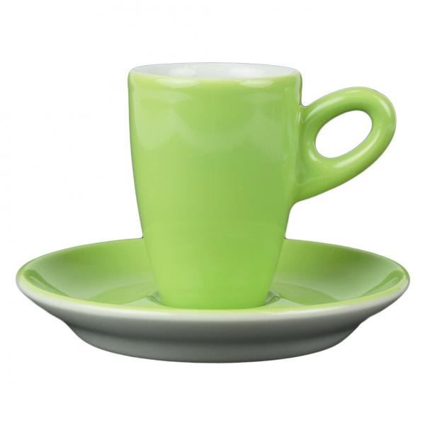 Alta espressokopje met schotel - groen (kiwi)