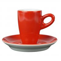 Alta espressokopje met schotel - Rood