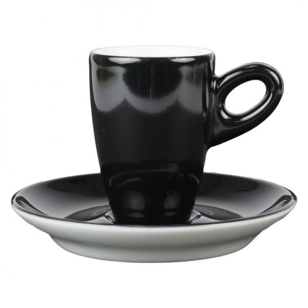 Alta espressokopje met schotel - Zwart