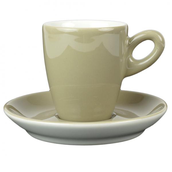 Alta koffiekopje met schotel - Grijs (schlamm)