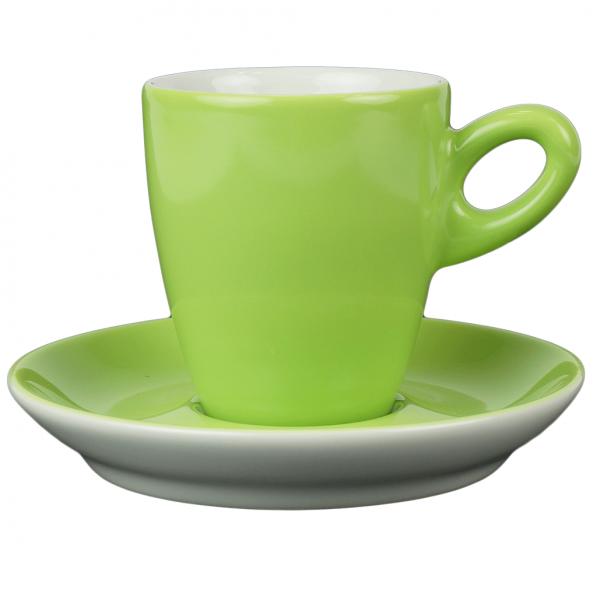 Alta koffiekopje met schotel - Groen (kiwi)