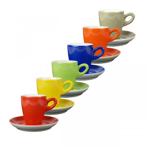 Walkure koffiekopjes - regenboog set van 6