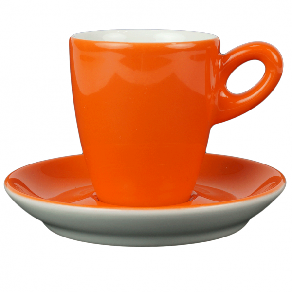 Alta koffiekopje met schotel - Oranje
