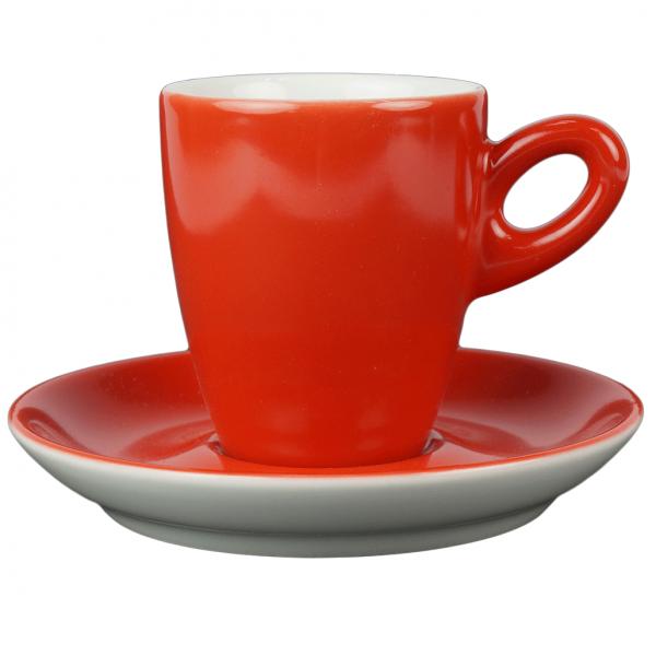 Alta koffiekopje met schotel -  Rood