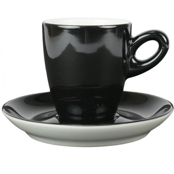 Alta koffiekopje met schotel - zwart