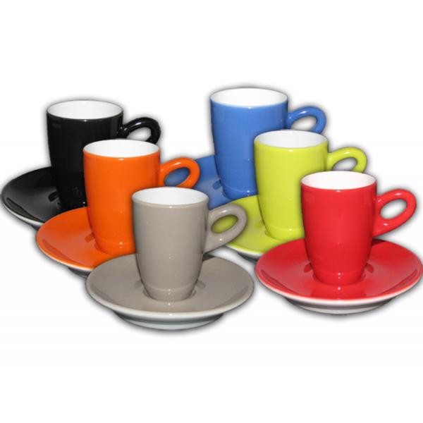Walkure espressokopjes regenboog - set van 6